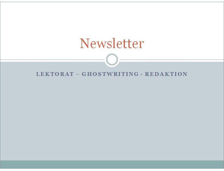 Newsletter schreiben lassen